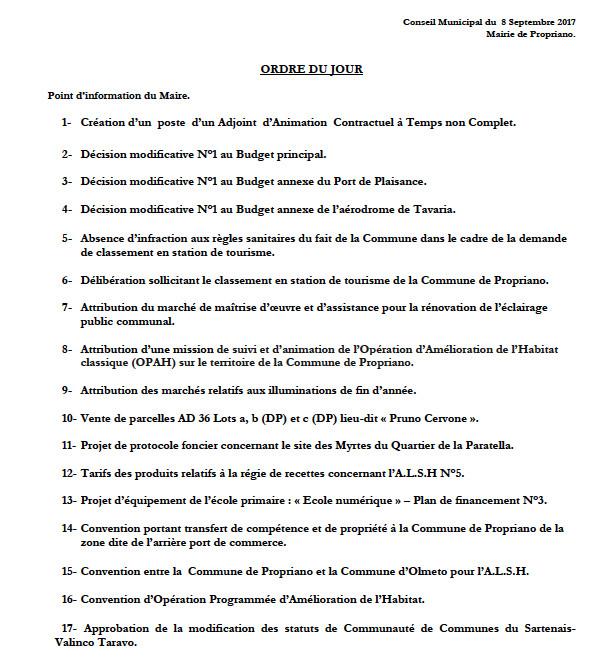Réunion du conseil municipal du 8 septembre 2017 - 14h30