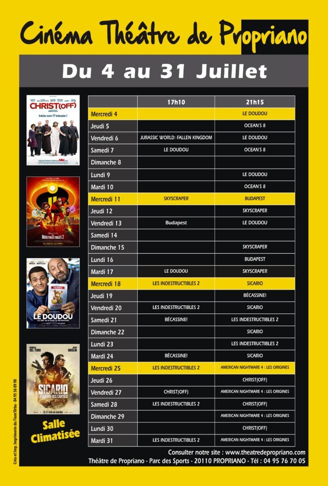 Cinéma > à l'affiche en Juillet