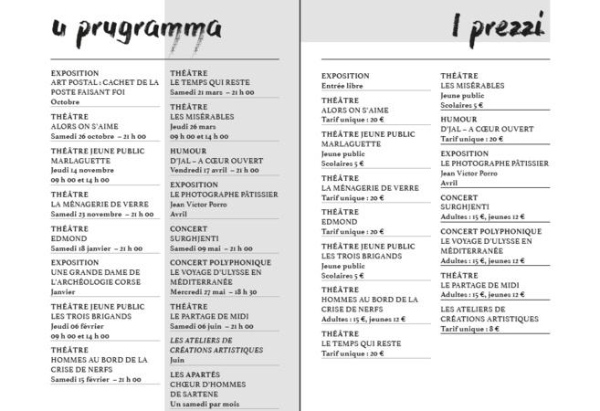Théâtre de Propriano : saison 2019-2020