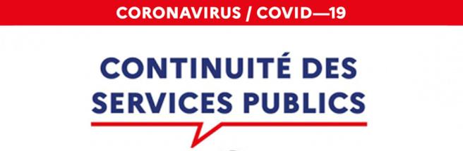 Vos services publics en mairie pendant le confinement