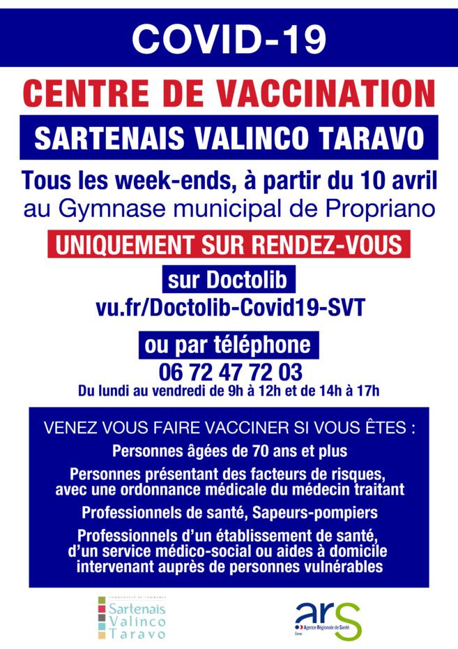 Covid-19 : Ouverture du centre de vaccination Sartenais Valinco Taravo à Propriano