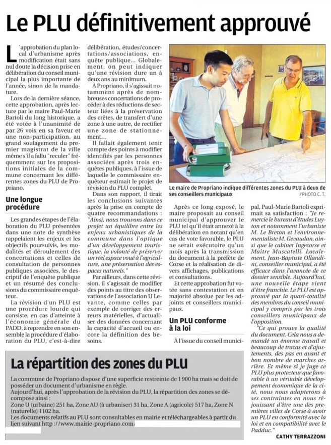 Le PLU (Plan Local d'Urbanisme)