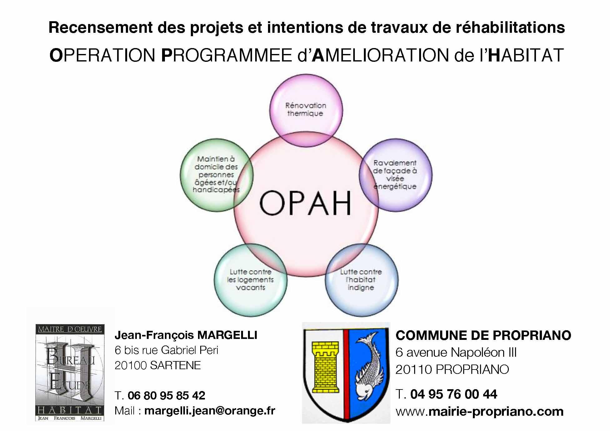 OPAH : recensement des projets