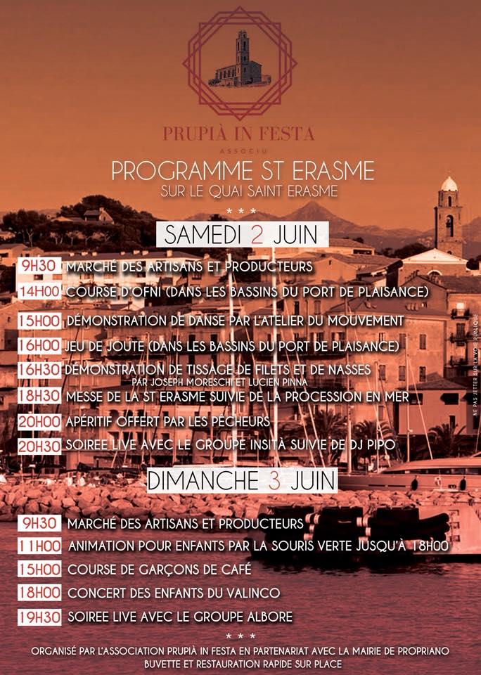 Festivités de la Saint Érasme : 2 & 3 juin 2018