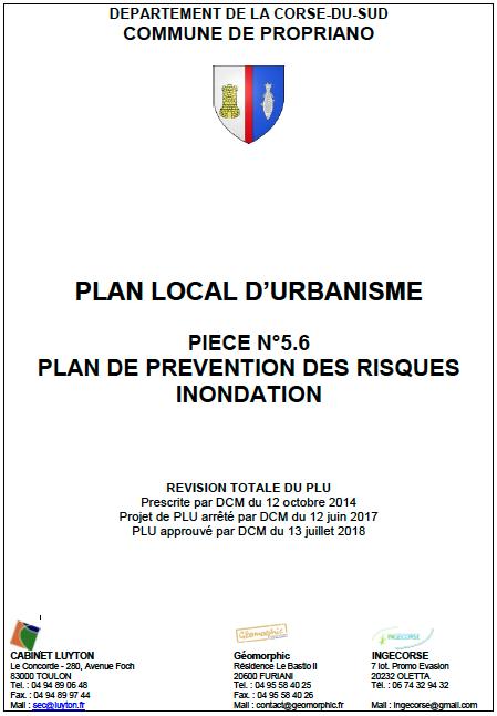Plan Local d'Urbanisme de Propriano