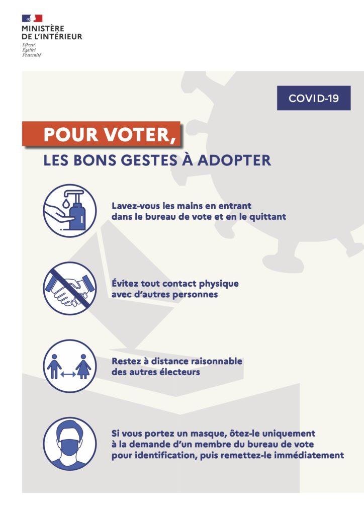 Des mesures pour garantir la sécurité sanitaire et le bon déroulement des opérations électorales