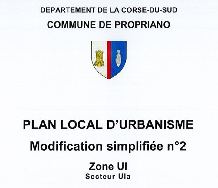 PLU : Approbation de la modification simplifiée n°2
