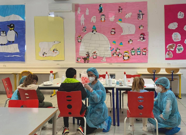 Campagne de dépistage Covid-19 à l'école élémentaire