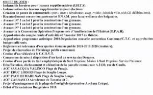 Réunion du conseil municipal du 9 mars 2018