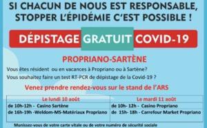COVID-19 : Dépistage gratuit