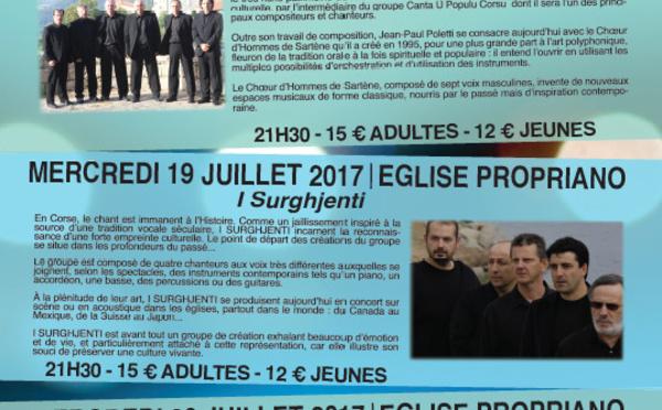 Concerts en l'église de Propriano