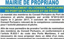 Renouvellement du Conseil Portuaire