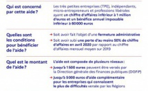 Covid-19 : le Fonds de solidarité des entreprises (TPE)