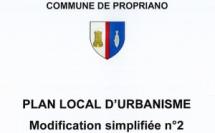 PLU : Projet de modification simplifiée n°2